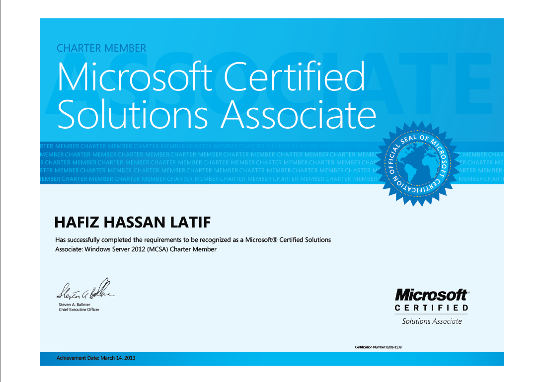 Microsoft certified solutions associate windows server 2012 mcsa 2012 charter member xflitez Image collections
