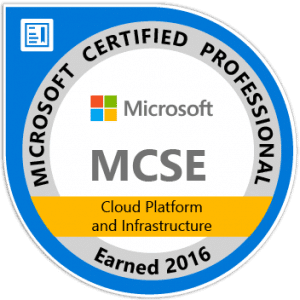 MCSE Cloud Platform and Infrastructure