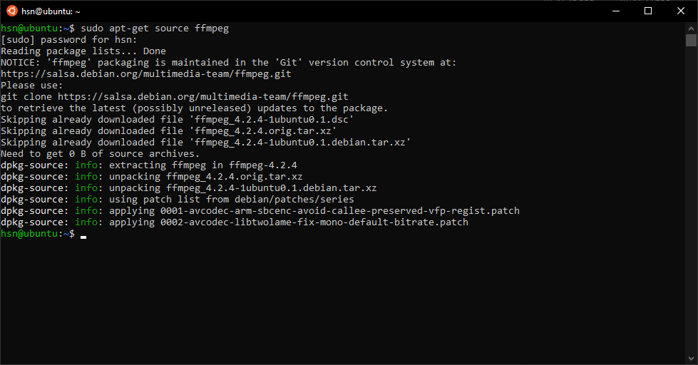 Get the Source Code for an Installed Package with apt-get