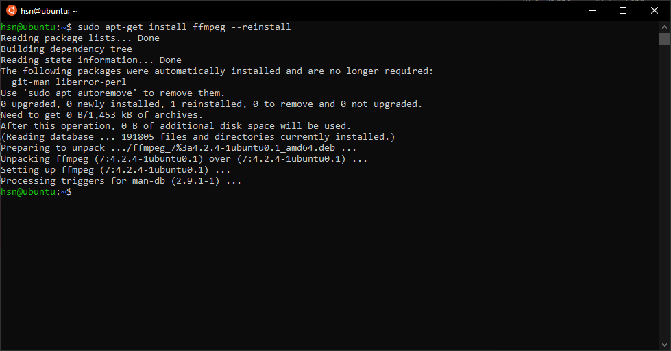 Reinstall a Software Package with apt-get